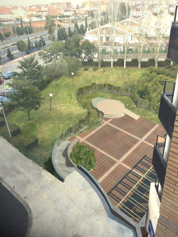 Reformas jardin hotel barcelo caceres
